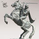 High quality Resin Decoration Casting Bronze Knight on Horse Statue for outdoor BSG-142