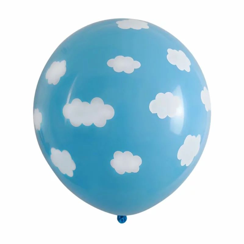 12 inch sky blue helium latex balloons with white cloud for party decoration Blue Sky And White Clouds Latex Balloon