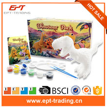 Kids educational toys diy arts and crafts ceramic painting dinosaur kit