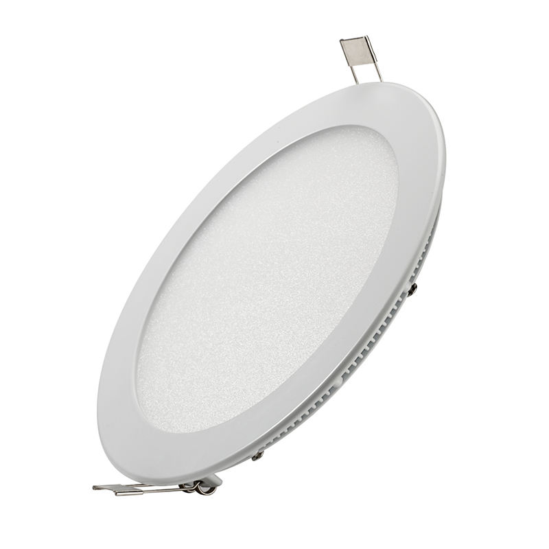 CE RoHS Saso 9 W 12 W 18 W Ultra Slim Dimmable Putaran Datar LED Panel Cahaya