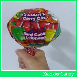 Giant Fruity flavour swirl lollipop with ISO BRC HACCP HALAL QS certificate