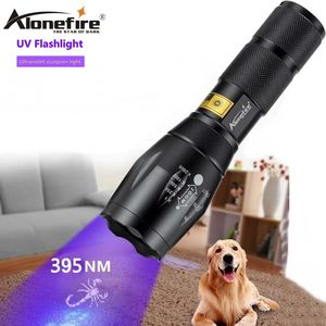 AloneFire G700 Zoom LED UV Light Flashlight 395nm adhesive curing Home Travel safety UV Detection Torch Lamp 18650 AAA battery
