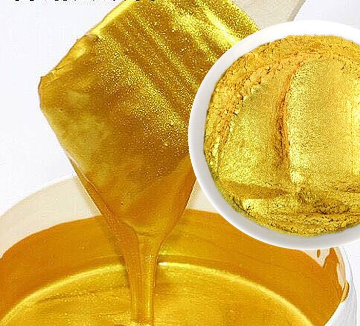 wholesale Gold Pearl Pigment Powder for metal and wood paint