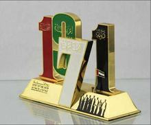 Die Cast UAE 1971 Souvenir Year Metal Stand Trophy
