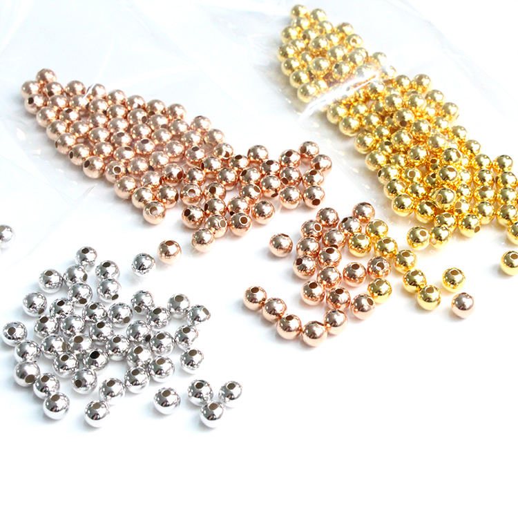 Wholesale accessory different sizes and colors 925 sterling silver fixed bead for bracelet and necklace making