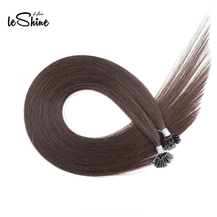 Cheap Wholesale Human Hair Extension 0.8g Flat Tip Italy Keratin Pre Bonded Hair Extensions Flat Tip Hair