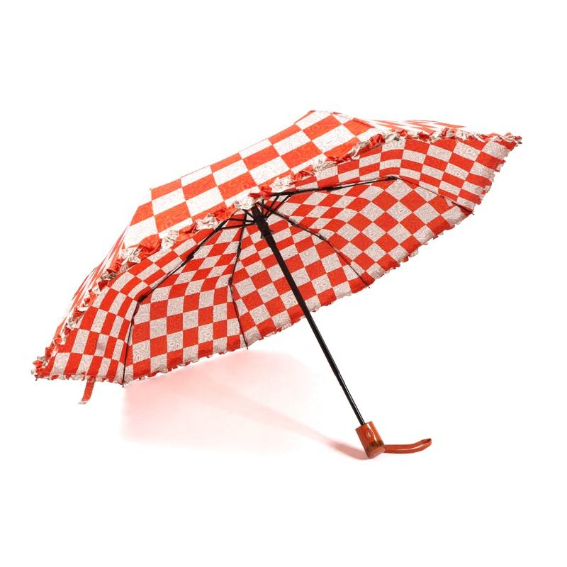 RST plastic handle auto open and close lady mini lace umbrella