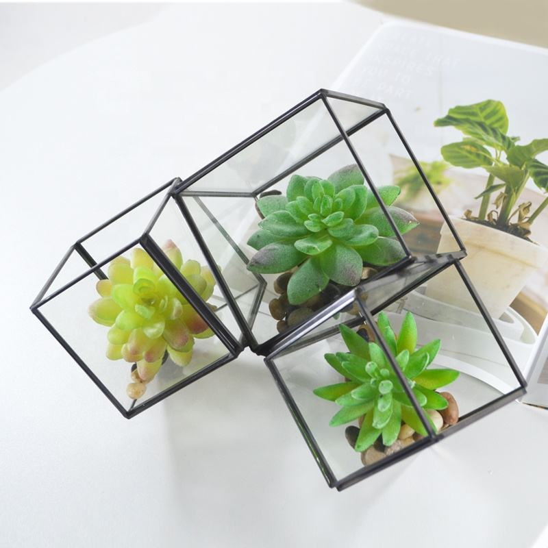 WONDER geometric and creative glass flower house combined set