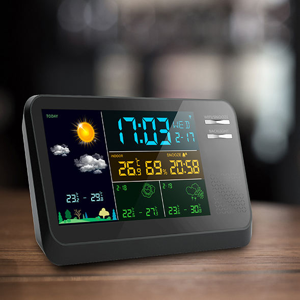Professional Color Wireless Weather Station with wi-fi connection/APPs