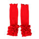 Wholesale Children Icing Leggings Cotton Red Baby Girl Ruffle Leg Warmers