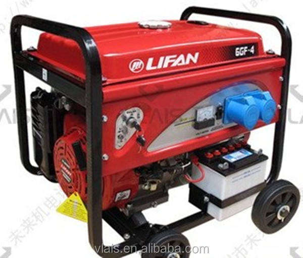 Air-cooled gerador da gasolina, LIFAN 6.5KVA rei potência do gerador a gasolina