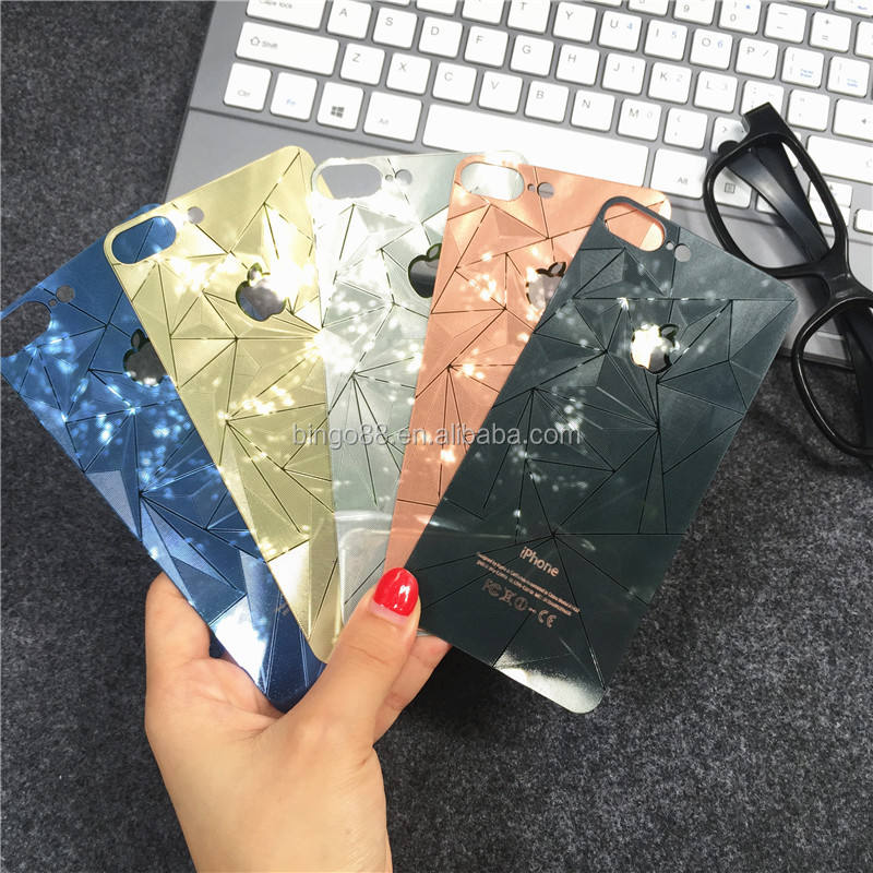 Wholesale Front Back Cell Phone Colored Mirror Tempered Glass screen protector for iphone models