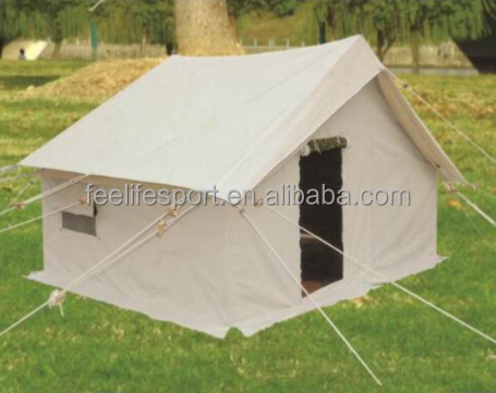 100% cotton canvas disaster relief tent