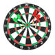 Double-sided Paper Dartboard with 4 Brass Darts Game Set