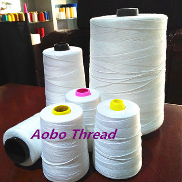 100% spun polyester bag closing sewing thread white for bag closer machine