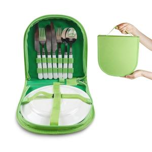 R01-0033 Set of 7pcs Camping Utensil Organizer Picnic Backpack Cutlery Set Utensil Camping Kit