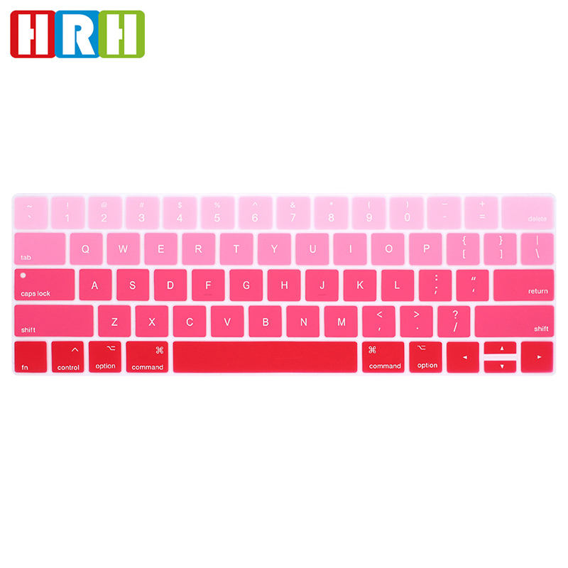 Rainbow Silicone keyboard skins colored laptop keyboard skin Protector cover for macbook pro 13 touch bar A1706 A2159 keyboard