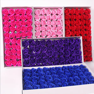 Wholesale artificial rose soap picture red rose for sale family wedding decoration