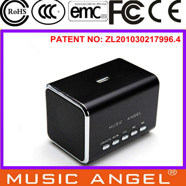 Música Angel JH-MD05B línea USB/TF fm radio mp3 altavoz