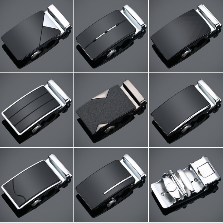 fashion men belts alloy automatic belt buckles manufacturer