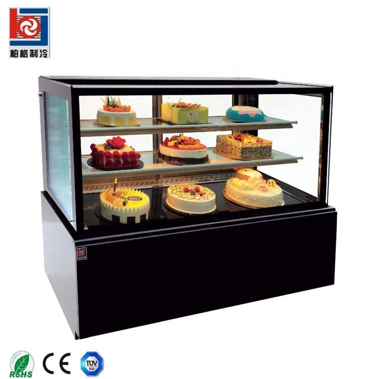 1/2/3/4 strato di supporto da pavimento o mini contatore table top torta display chiller frigorifero