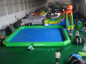 hot on land inflatable water park water slide sea animal inflatable water park summer inflatable pool