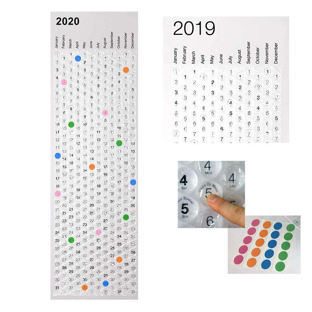 Chinese Scroll Bubble Wrap Wall Calendar Printing