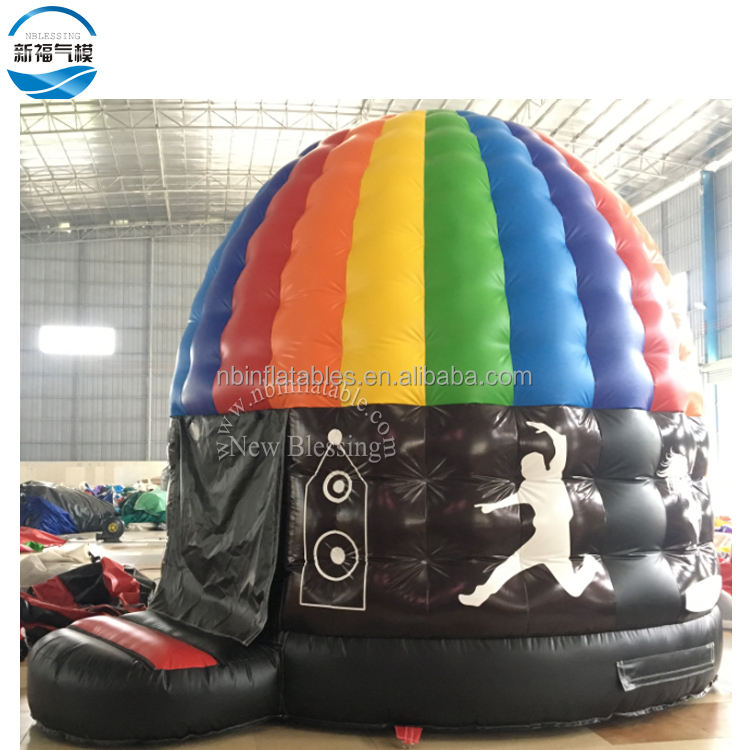 PVC Inflatable Dancing Party Bouncer Customized Music Inflatable Disco Dome Bouncy Castles
