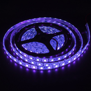 16.4FT 5M 12V DC 395NM SMD 5050 Black Light UV Ultraviolet LED Strip UV Blacklight LED Rope