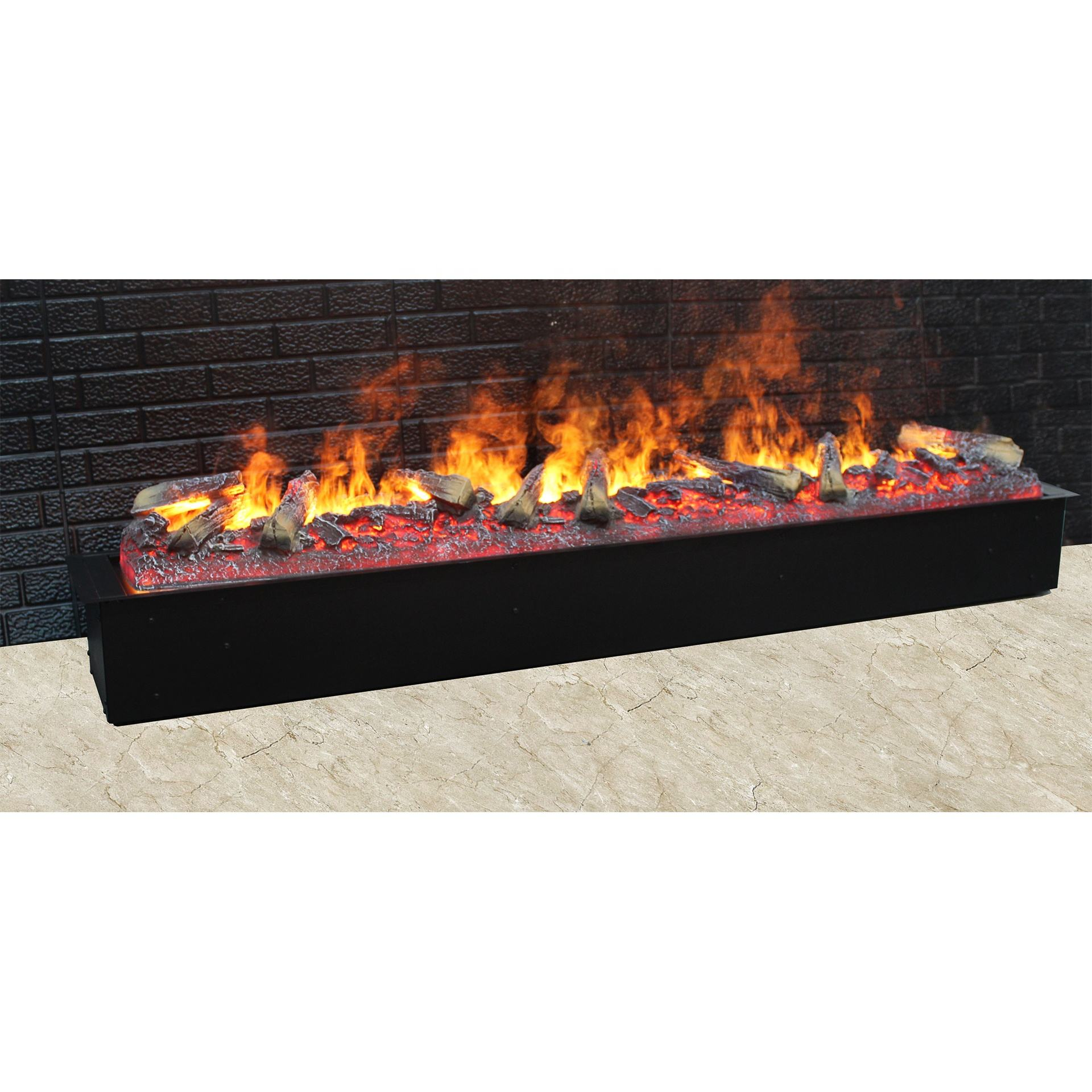 Atomization Fire Steam Vapor Fireplace Cassette 1500mm Log Set Design Ultrasonic Technology