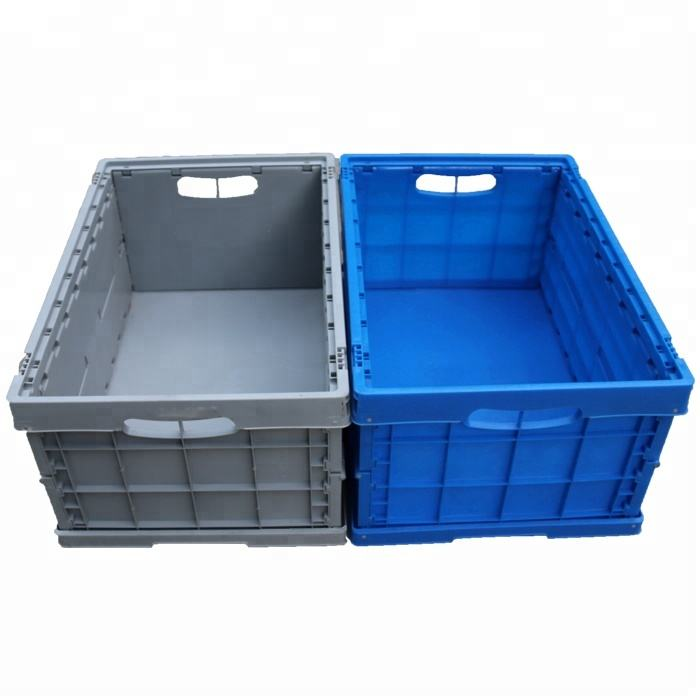 High Quality Plastic Folding Container Any Industry Plastic Totes Blue OEM Plastic Storage Box