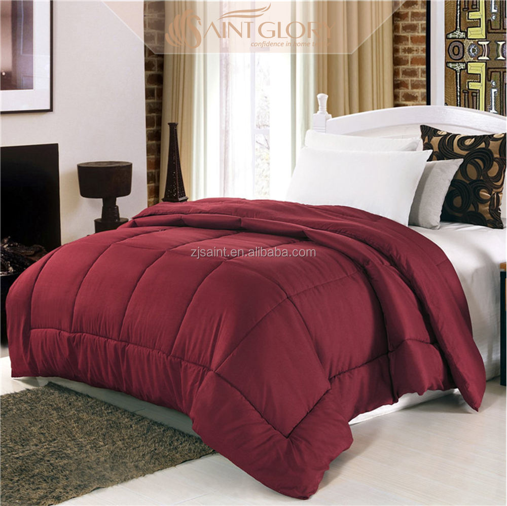 Luxury Goose Down Alternative Double Fill Comforter (Duvet Insert), TWIN/TWIN XL SIZE, Solid Color 3 piece polyester duvet Quilt