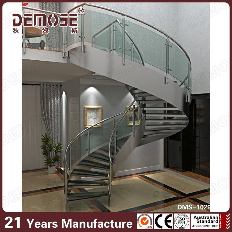 Cam kavisli merdiven fiyat ızgara tasarımı
