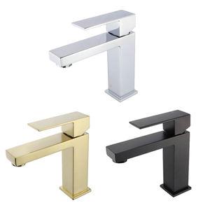 B1 cUPC CE Single Handle Matt Black SUS304 SUS 304 Stainless Steel Cheap Bathroom Basin Sink Tap Faucet For Bathroom