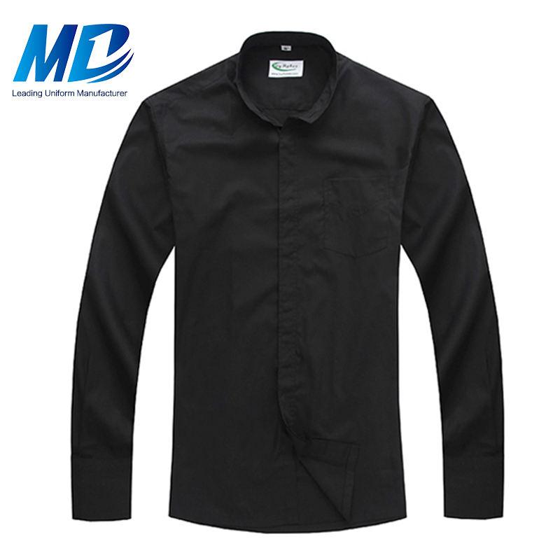 Модные дизайнерские христианской церкви черный духовенство рубашки для продвижения