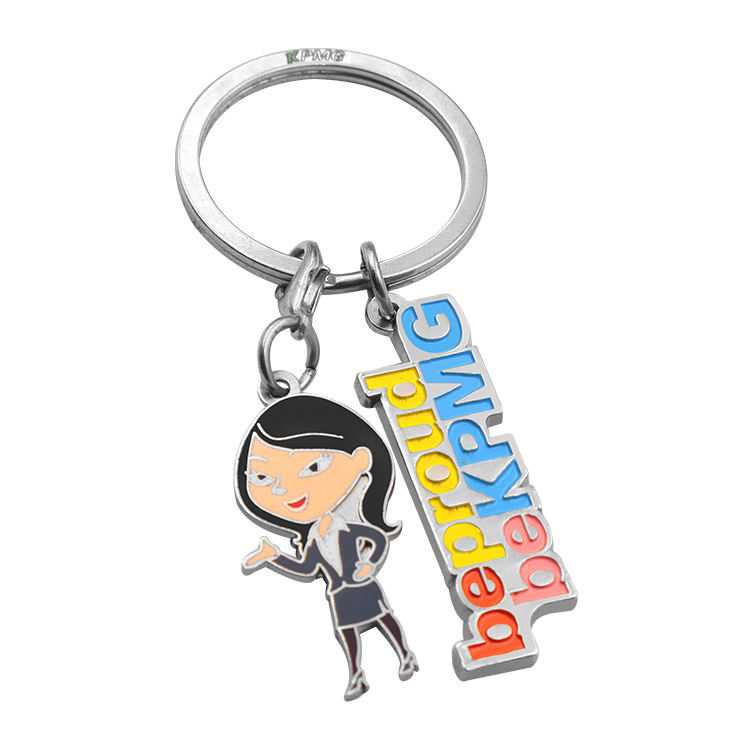 Wholesale no minimum order cheap key chain ring metal custom medal key rings