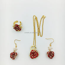 Top Sale from China 24K Gold Eternity Real Rose Jewelry The Best Love Gift