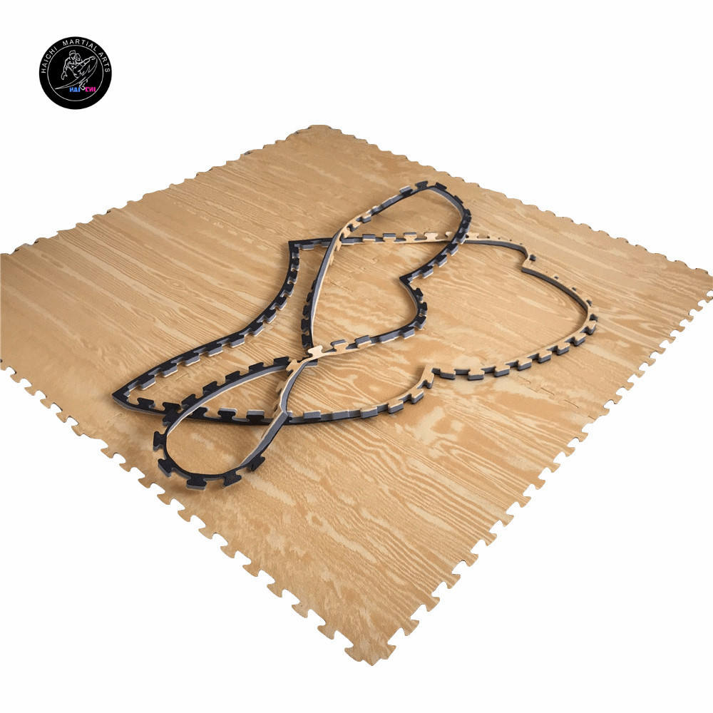 WTF Approved Wooden Grain Karate Mat For Taekwondo Training