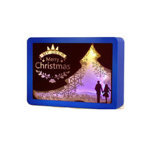 Beautiful Paper Cut Light Box Night Light Templates Laser Cut Best ChristmasTheme Christmas Day Gift Led night light