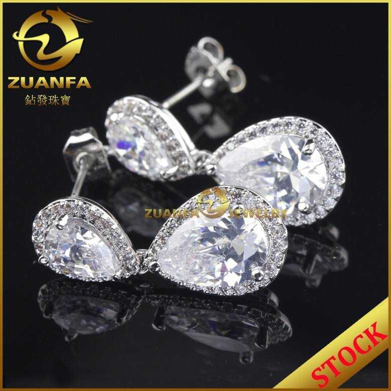 fashion costume jewelry china cubic zirconia 18k gold plated silver paypal jewelry