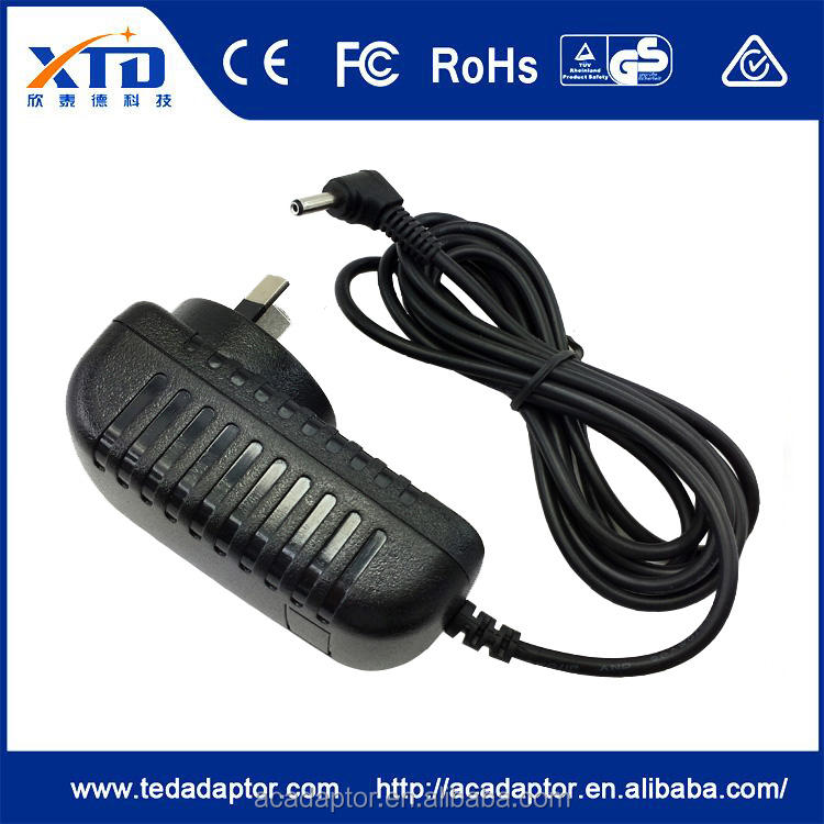 Ce fcc rohs gs goedkeuring cctv camera adapter 12 v adapter dc 1.5a czjutai ac adapters