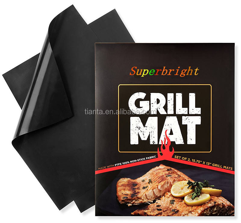 Factory Price Non Stick fire Retardant BBQ Grill Mat