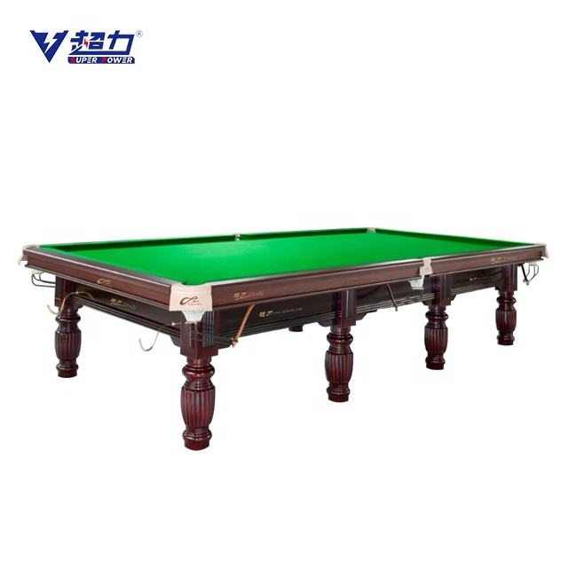 Table Snooker Marble Slate Solid Wood 12ft Snooker Pool Table For Home Or Club Use