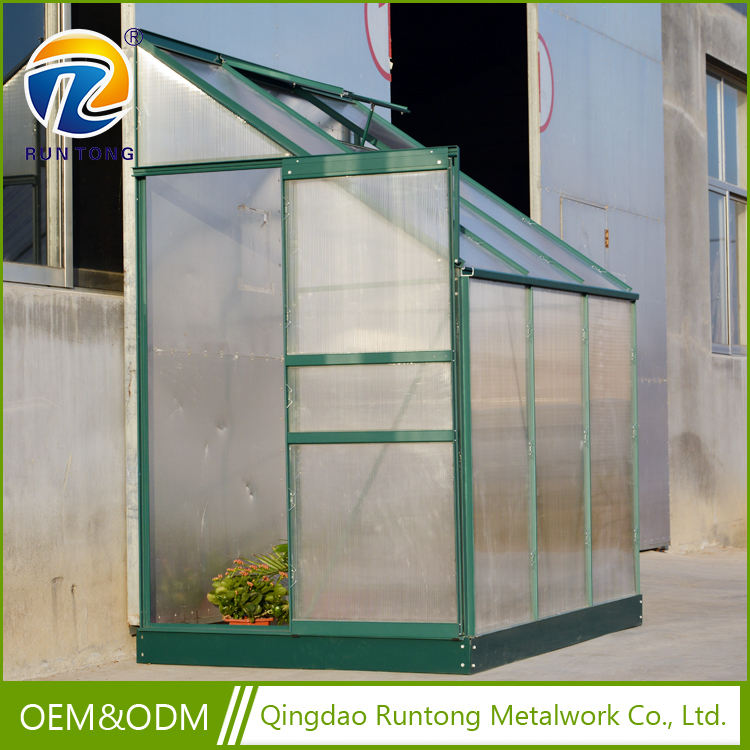 Qingdao RUNTONG Lean To Greenhouse Mini Aluminium Garden Greenhouse