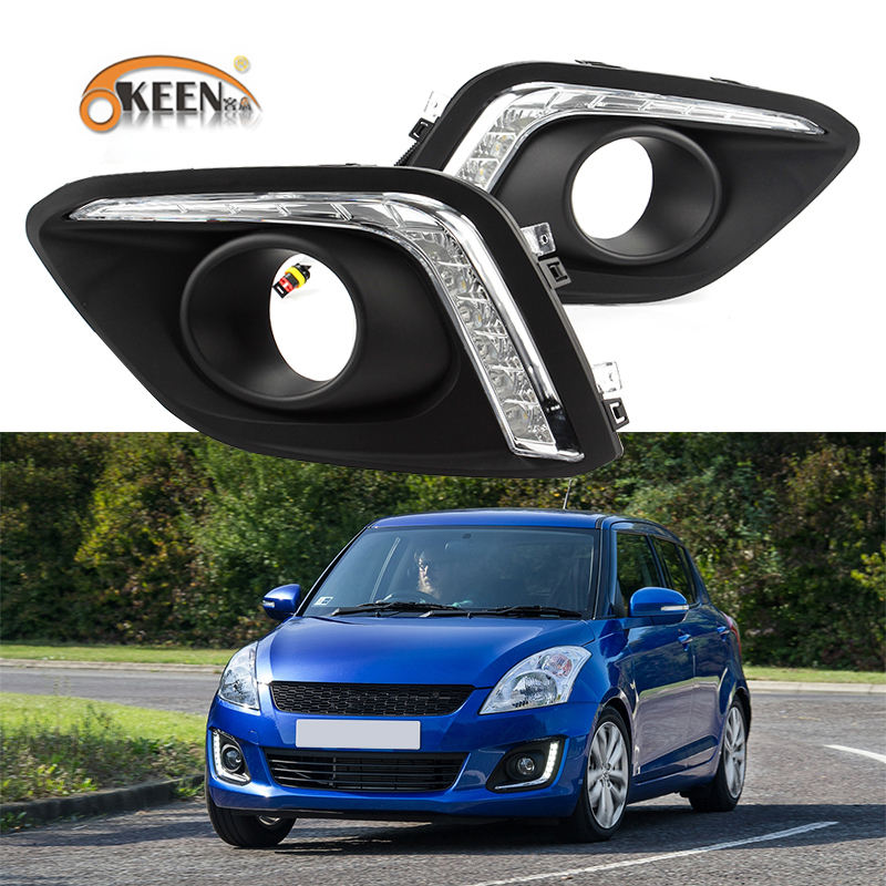 KEEN Waterproof Car Daytime Running Light LED Car Driving Lights for Suzuki Swift 2013-2016 Swift Car Accessories