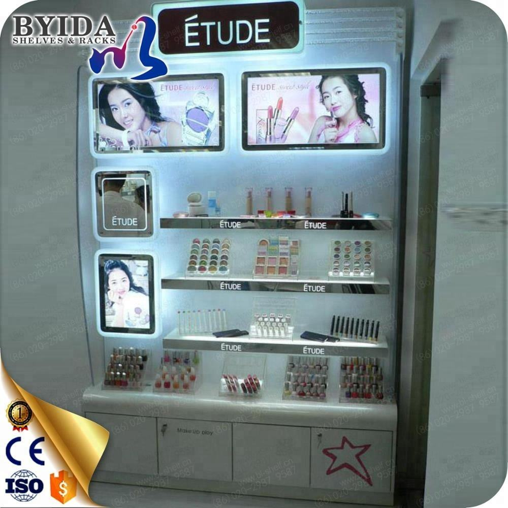 Cosmetic Display wooden Beauty Products Display Shelving