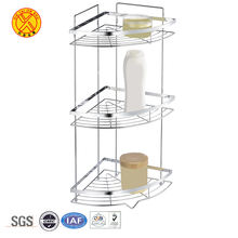 Most popular stainless steel metal wall shampoo storage organizer 3 Tier bathroom corner rack bathroom shower shelf
