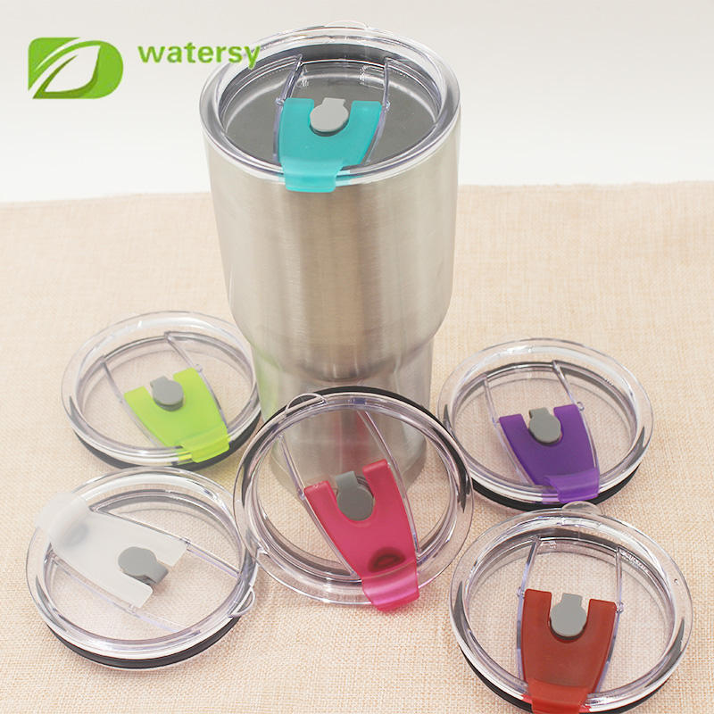 Factory wholesale 30 oz tumbler lid, color new plastic lid with straw.