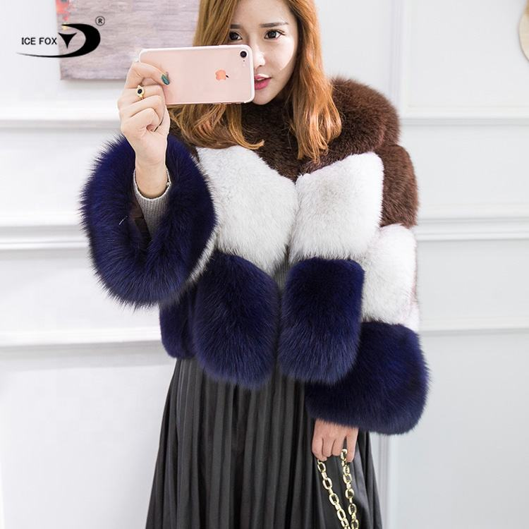 Lady Fur Coat New Winter Fashion Hot Real Fox Fur Coat