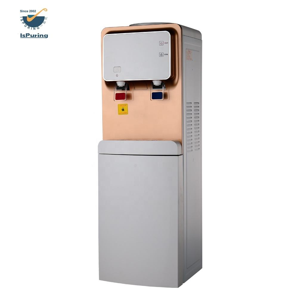 Water Dispenser Price Korea Style Hot Cold Water Dispenser/Vertical Water Dispenser Compressor Cooling/Three Taps Water Dispenser With Storage Cabinet